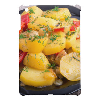 Stew of potatoes with onion, bell pepper and dill iPad mini case