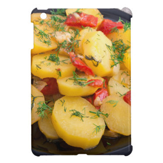 Stew of potatoes with onion, bell pepper and dill iPad mini covers