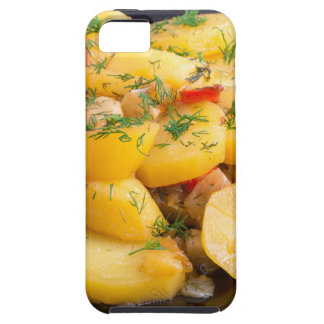 Stew of potatoes with onion, bell pepper and dill iPhone 5 cases