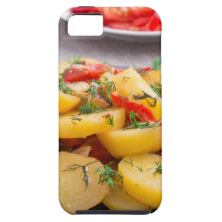 Stew of potatoes with onion, bell pepper, fennel iPhone 5 case