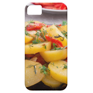 Stew of potatoes with onion, bell pepper, fennel iPhone 5 cover