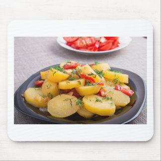 Stew of potatoes with onion, bell pepper, fennel mouse pad