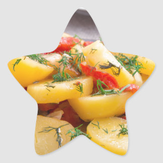 Stew of potatoes with onion, bell pepper, fennel star sticker