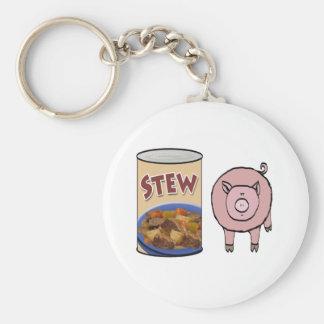 stew-pig basic round button keychain