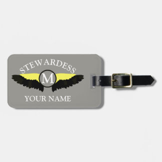 Stewardes airplane cabin crew luggage tag