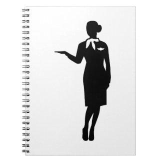 Stewardess airline notebooks