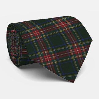 Stewart Black Modern Original Scottish Tartan Tie