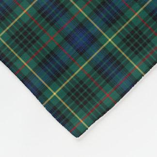 Stewart Clan Dark Green and Blue Hunting Tartan Fleece Blanket