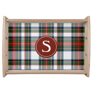 Stewart Dress Tartan Plaid Monogram Serving Tray