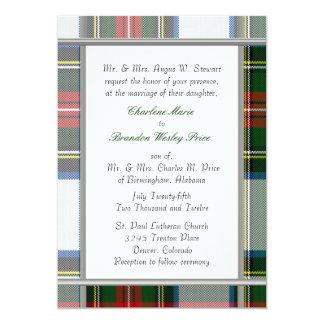 Stewart Dress Tartan Plaid Wedding Invitation