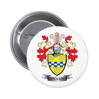 Stewart Family Crest Coat of Arms 2 Inch Round Button