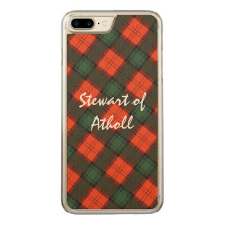 Stewart of Atholl Scottish Kilt Tartan Carved iPhone 8 Plus/7 Plus Case