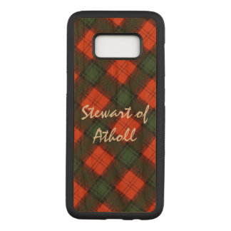 """Stewart of Atholl"" Scottish Kilt Tartan Carved Samsung Galaxy S8 Case"