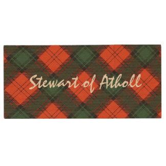 Stewart of Atholl Scottish Kilt Tartan Wood USB Flash Drive