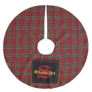 Stewart Royal Tartan Plaid Custom Monogram & Name Brushed Polyester Tree Skirt