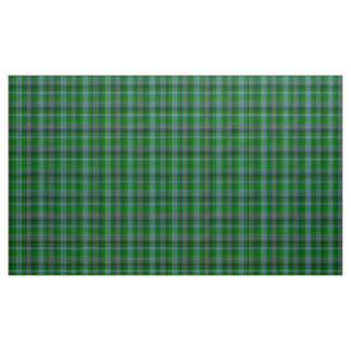 Stewart Tartan Blue Green and Black Plaid Fabric