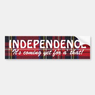 Stewart Tartan Scottish Independence Sticker