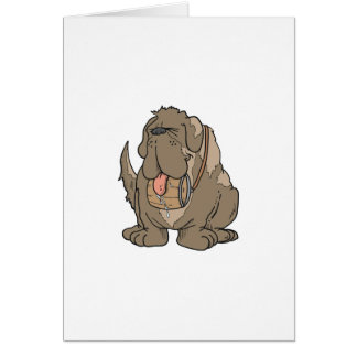 Stewart the Saint Bernard Card