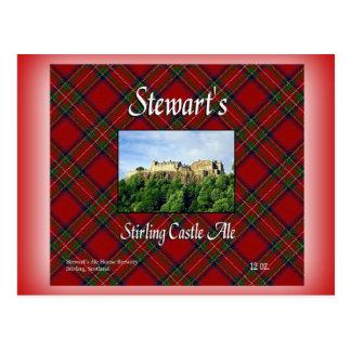 Stewart's Stirling Castle Ale Postcard