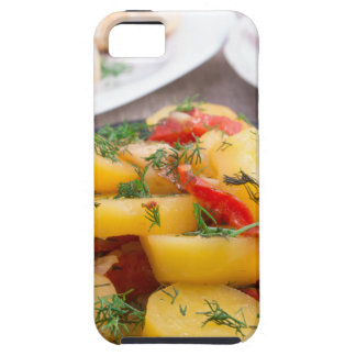 Stewed potatoes with bell pepper closeup iPhone 5 case