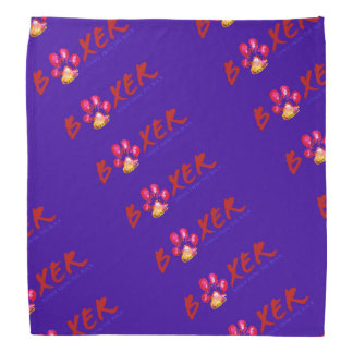 Stewie from The Rock BOXER Pawprint Bandana