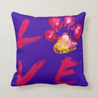 Stewie from The Rock Pawprint LOVE Pillow