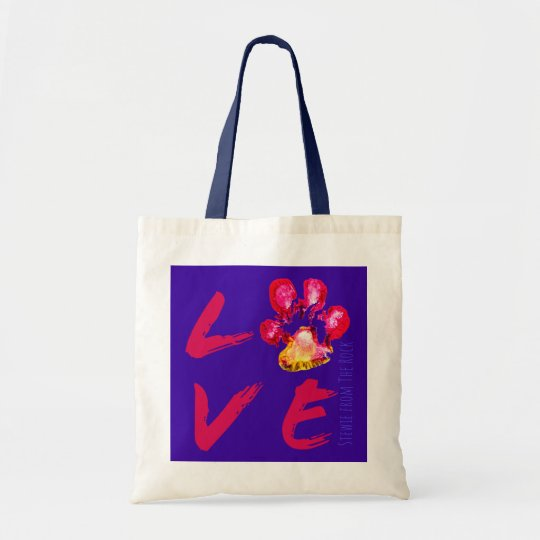 Stewie from The Rock Pawprint LOVE Tote