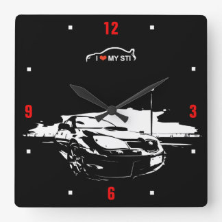 STI Drift Square Wall Clock