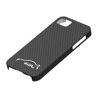 STI Impreza Drift  w/Faux Carbon FIber Background iPhone 5 Case