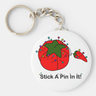 Stick A Pin In It! (Sewing Tomato) Keychain