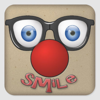 stick a smile square sticker