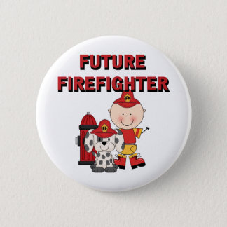 Stick Baby Future Firefighter Tshirts and Gifts 2 Inch Round Button