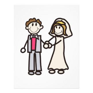 Stick Bride & Groom Custom Letterhead