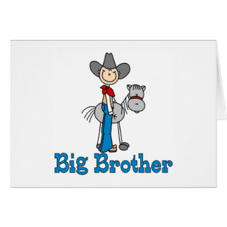 Stick Cowboy Big Brother Note Card