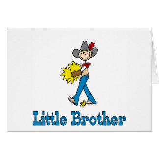 Stick Cowboy Little Brother Greeting Cards