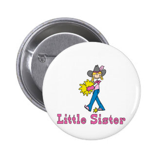 Stick Cowgirl Little Sister Pinback Button