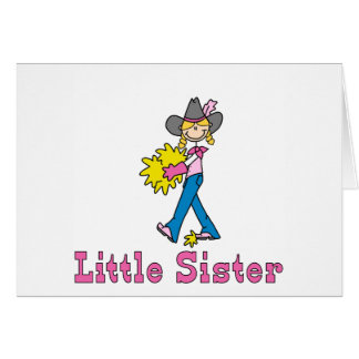 Stick Cowgirl Little Sister Note Card