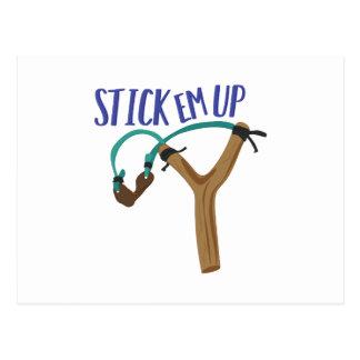 Stick Em Up Postcard