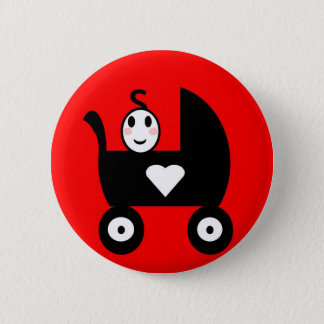 Stick Family Baby 2 Inch Round Button