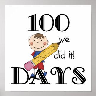Stick Figure 100 Days Poster