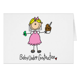 Stick Figure Baby Under Construction Card