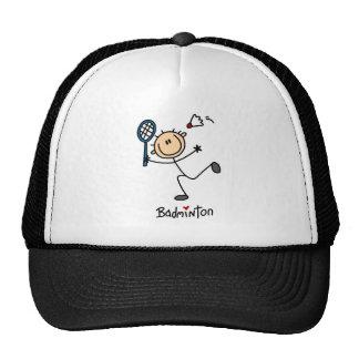 Stick Figure Badminton Baseball Cap Trucker Hat