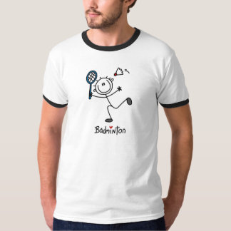 Stick Figure Badminton T-shirts and Gifts