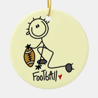 Stick Figure Basic Football T-shirts and Gifts Ceramic Ornament