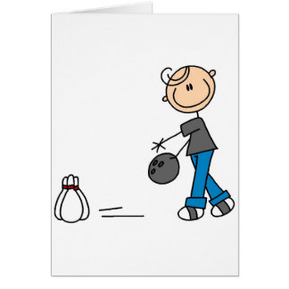 Stick Figure Bowling T-shirts and Gifts Card