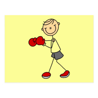 Stick Figure Boxing Tshirts and Gifts Postcard