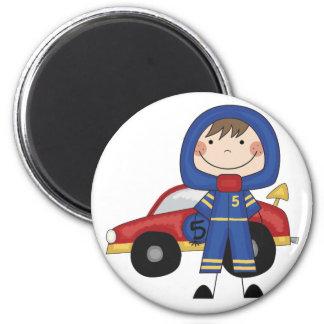 Stick Figure Boy Race Car Driver Tshirts Magnet
