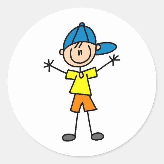 Stick Figure Boy Sticker