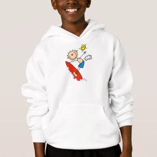 Stick Figure Boy Surfing T-shirts