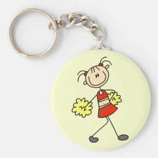 Stick Figure Cheerleading Tshirts and Gifts Keychain